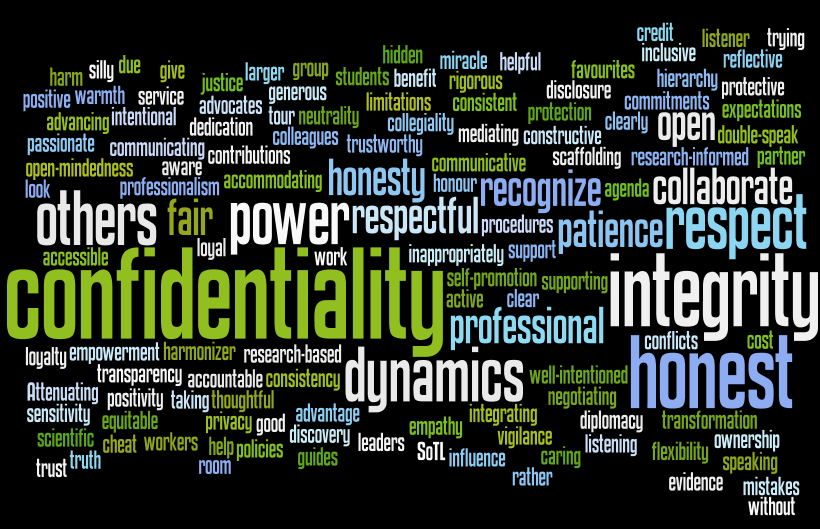 Novice Educational Developers Ethical Principles Wordcloud