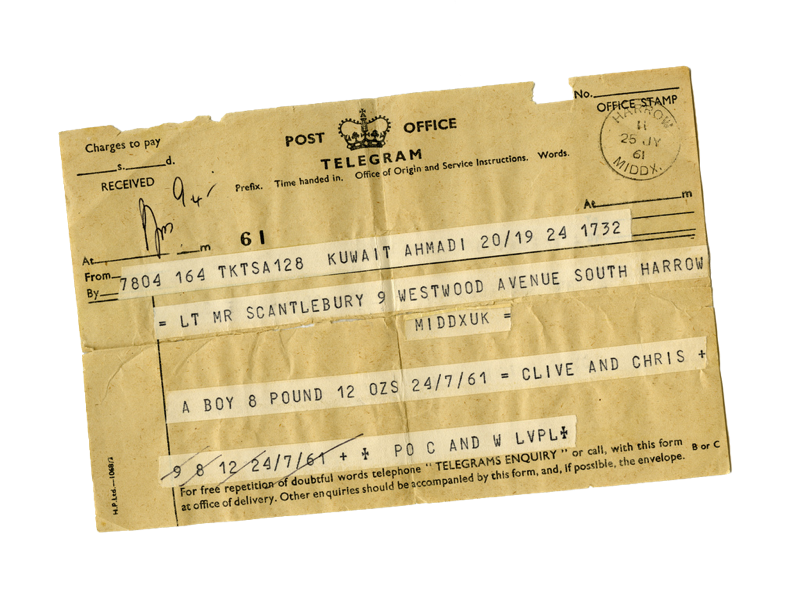 Image of a Telegram