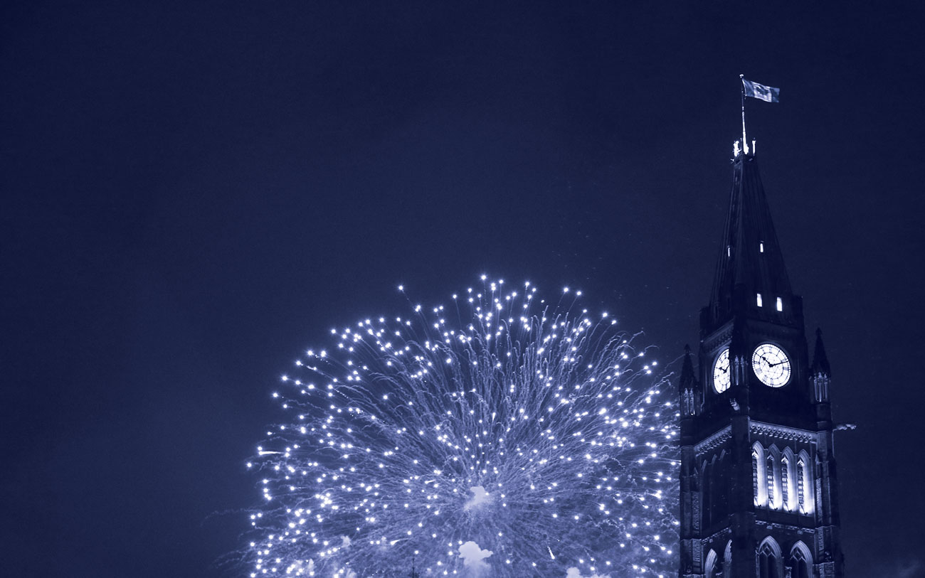 Canada Day fireworks on Parliament Hill