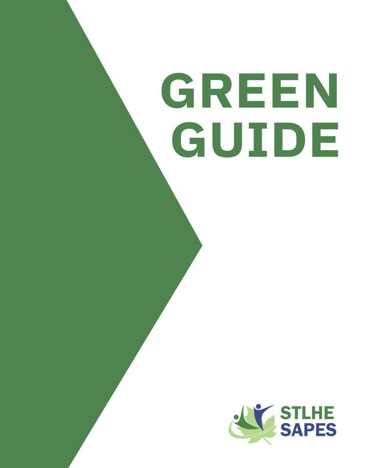 Green Guide cover design mockup